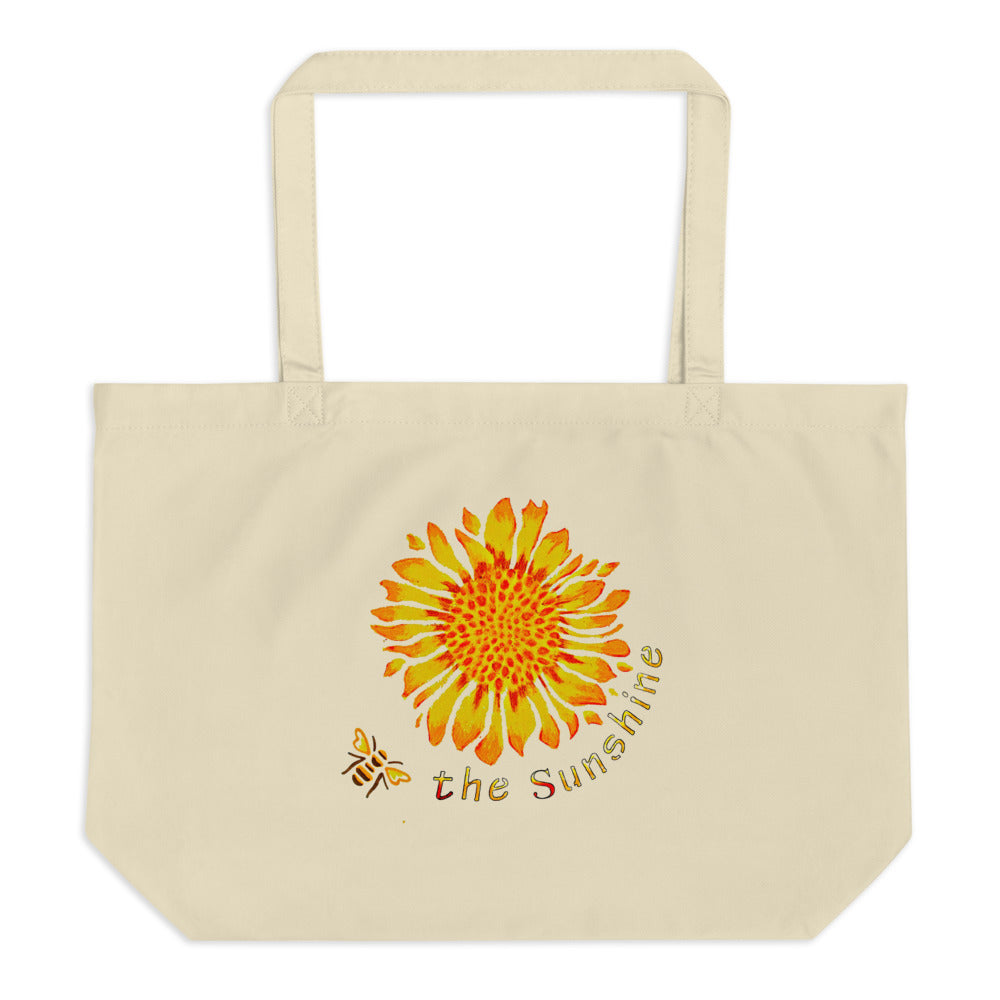 Be the Sunshine Large organic tote bag