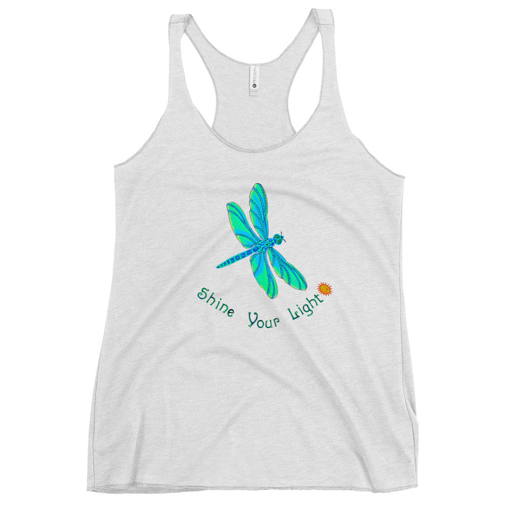 Shine Your Light Dragonfly Women's Racerback Tank Top