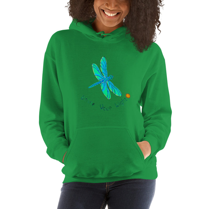 Shine Your Light Dragonfly Unisex Hoodie