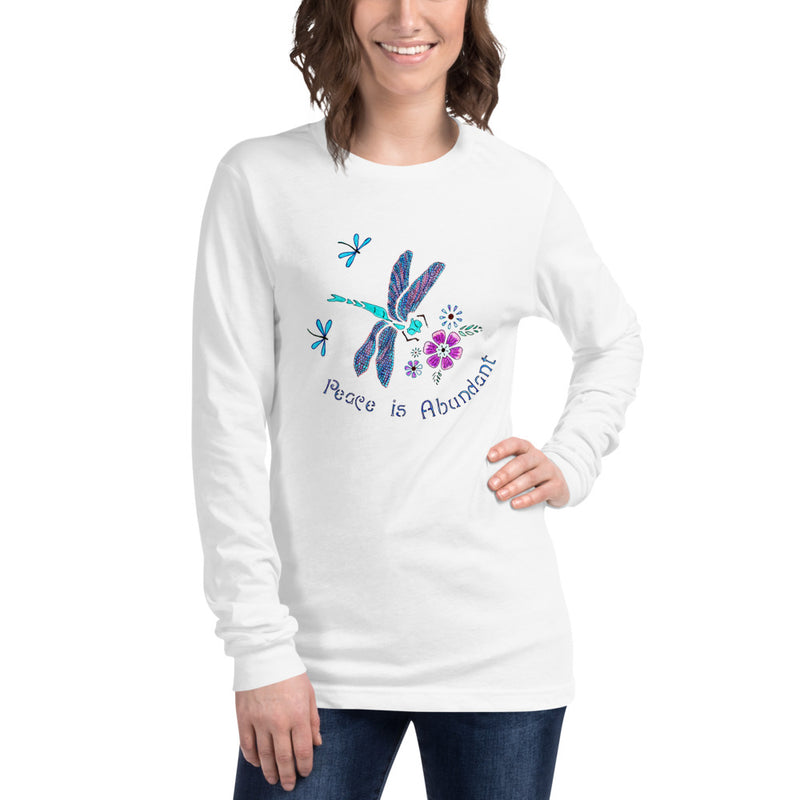 Peace is Abundant Dragonfly Unisex Long Sleeve Tee