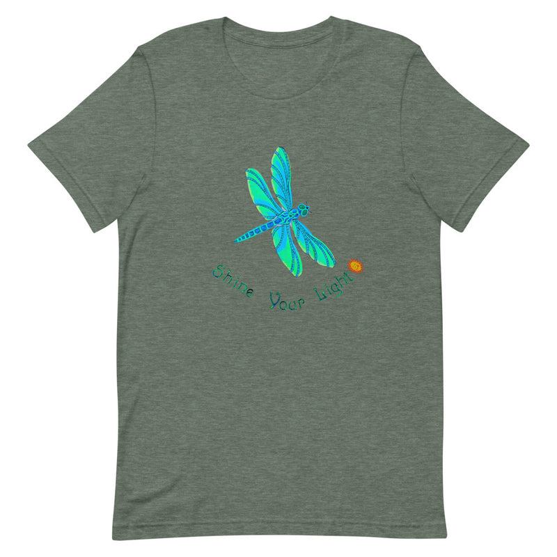Shine Your Light Dragonfly Short-Sleeve Unisex T-Shirt