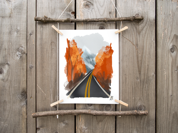 Road to Autumn Printable Art Download
