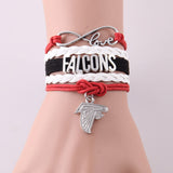 Infinity Love Atlanta Falcons bracelet - Shopazon Central