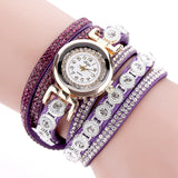 Round Dial Crystal Bracelet Watch - Shopazon Central