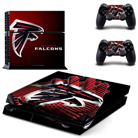 Atlanta Falcons PS4 Skin For Sony PS4 PlayStation 4 Console and 2 Controllers Stickers - Shopazon Central
