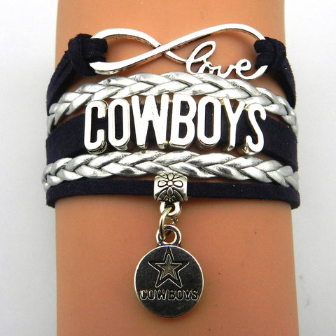 Infinity Love Dallas Cowboys bracelet - Shopazon Central