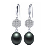 8 Types Black Pearl Earrings with gift box - Shopazon Central