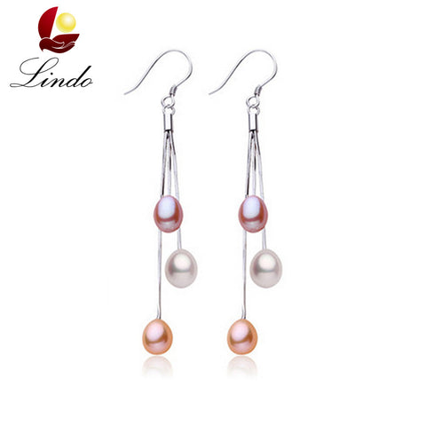 Casual 6-7mm natural freshwater pearl earrings 100% real - Shopazon Central