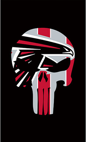 Atlanta Falcons Punisher flag 3x5ft - Shopazon Central