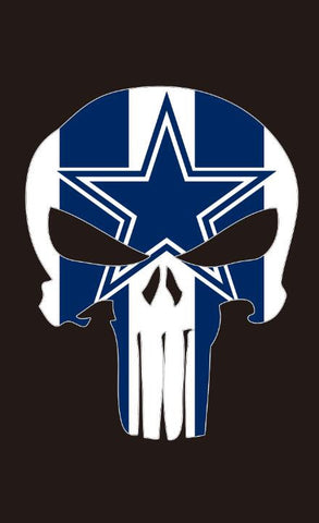 Dallas Cowboys Punisher flag bright color 90*150 CM - Shopazon Central