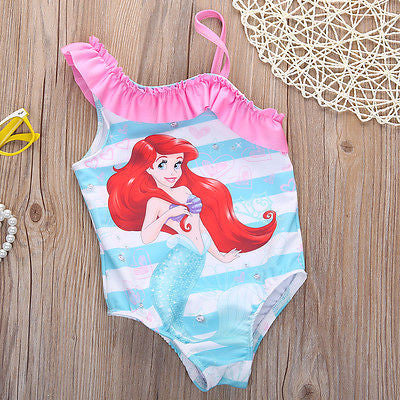 Girls Little Mermaid Bathing Suit 67890 - Shopazon Central