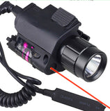 2in1 Tactical Flashlight/Red Laser/Sight Combo - Shopazon Central