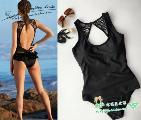 High Cut One Piece Bathing Suit - Shopazon Central
