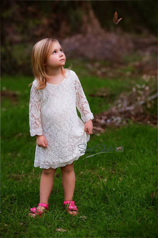 The Delilah Flower Girl Dress - White