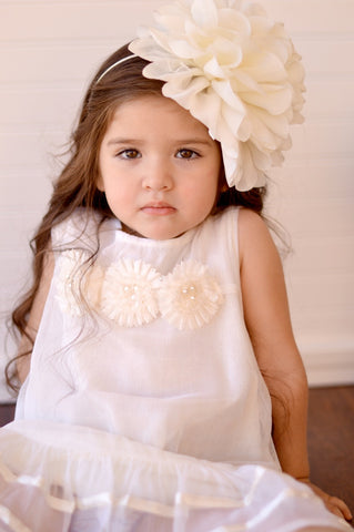 The Hallie Headband - Ivory