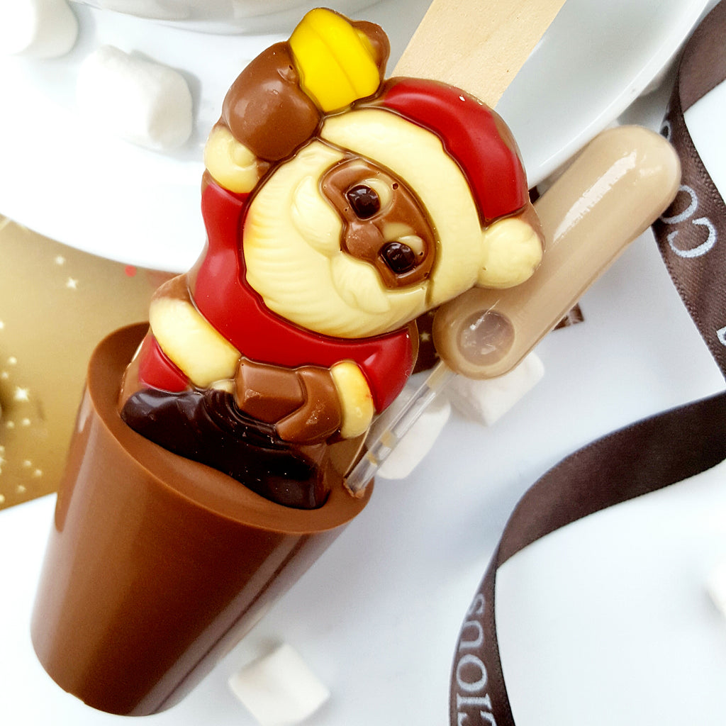 Boozy Santa With Bell Hot Chocolate Spoon