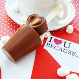 Milk Chocolate Heart Stirrer