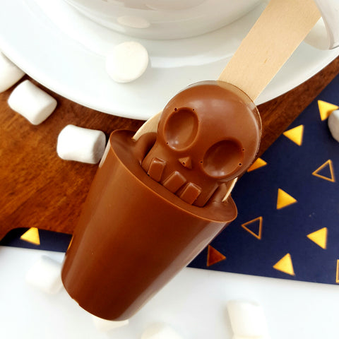 Milk Chocolate Skull Hot Chocolate Stirrer