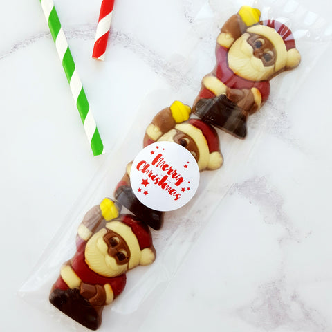 Chocolate Christmas Santa with Bell Pack (3)