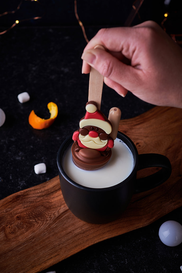 Salted Caramel & Clementine Drunken Santa Hot Chocolate Spoon