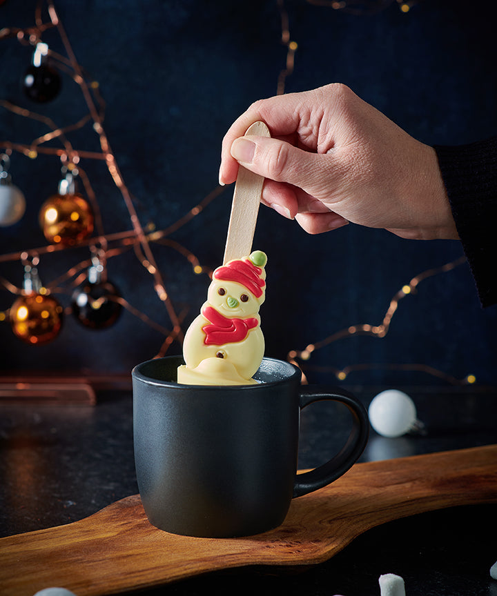 Snowman and Snowballs Hot Chocolate Spoon