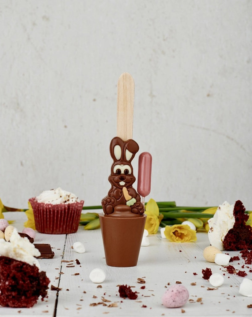 Boozy Easter Bunny Red Velvet Cupcake Chocolate Spoon