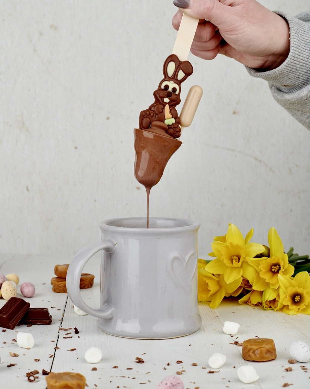 Boozy Easter Bunny Salted Caramel Hot Chocolate Spoon