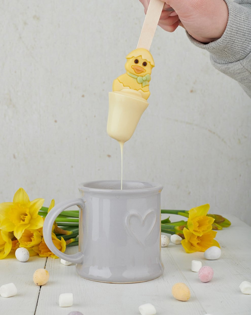 Easter Duck White Chocolate Spoon