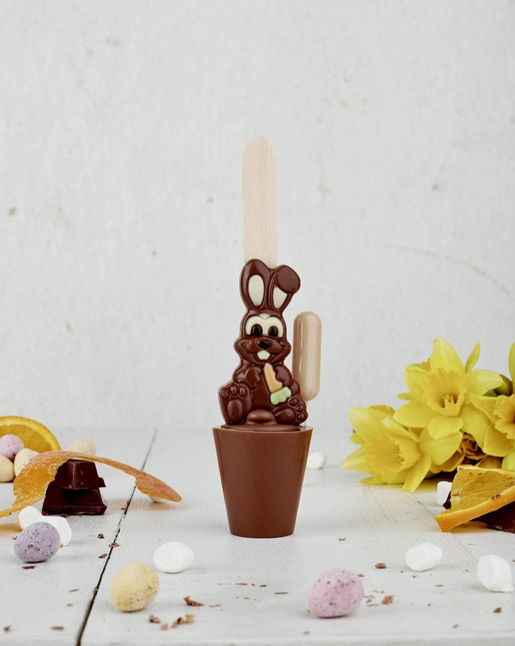 Boozy Easter Bunny Chocolate Orange Chocolate Spoon