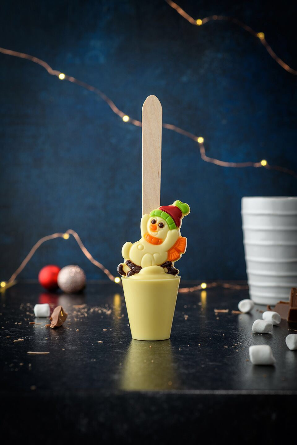 Snowman in Sledge Hot Chocolate Spoon