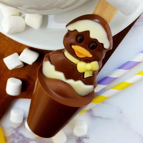 Easter Duck in Egg Hot Chocolate Spoon