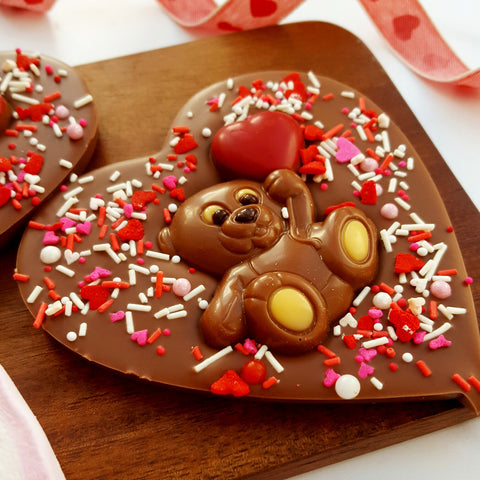 Valentine's Teddy Chocolate Lollipop