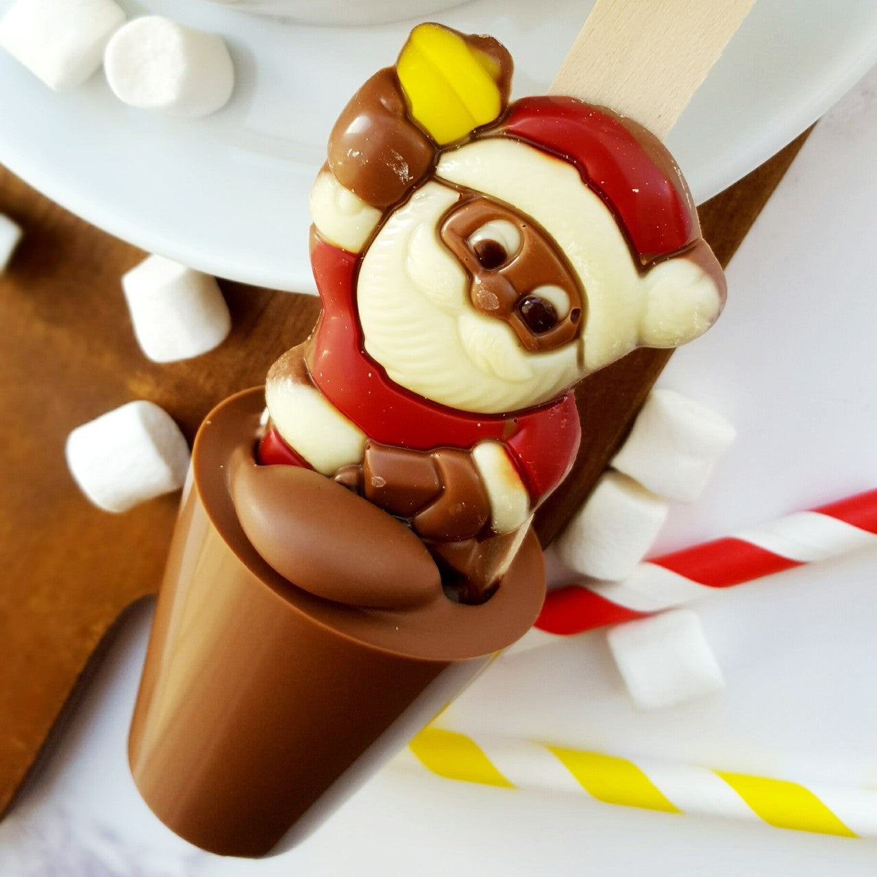 Santa With Bell Hot Chocolate Spoon