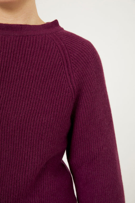 The Mock Neck Tie Back, Plum
