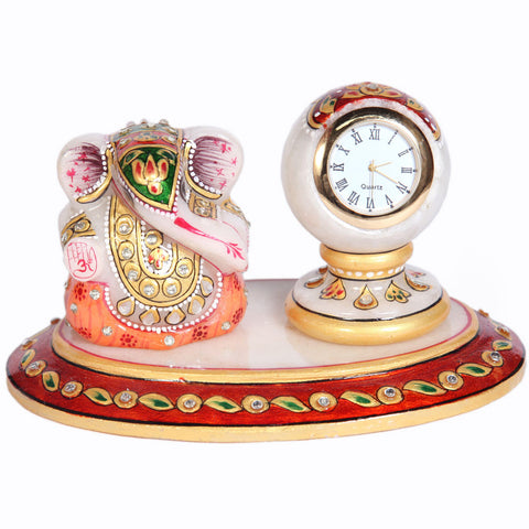 Oval ganesh and pillar watch