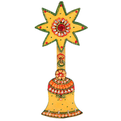 Kundan designer bell key stand holder