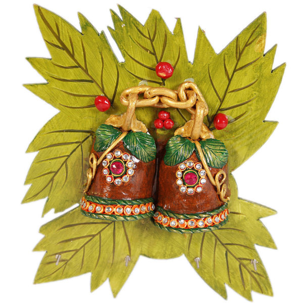 Kundan bell leaf key stand holder