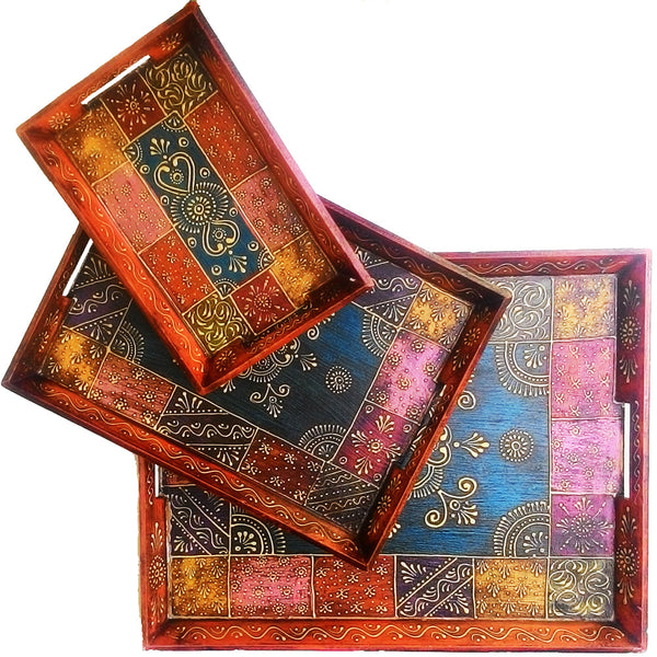 3 Piece Decorative Tray Set