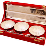 Attractive set of german silver tray and 3 bowls
