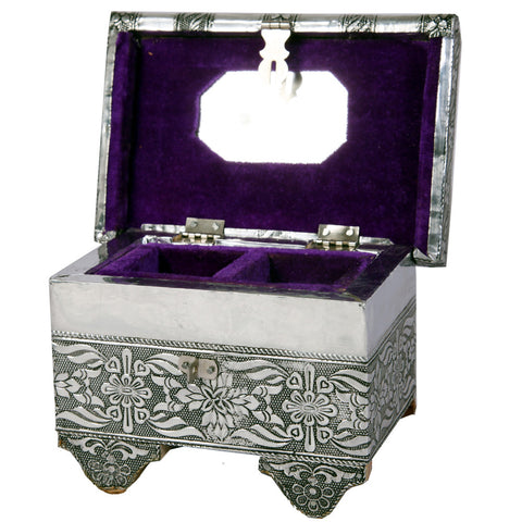 Floral Design Oxidized Jewellery Box