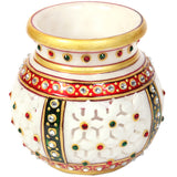 Decorative Marble Multicolor Candle Pot Holder