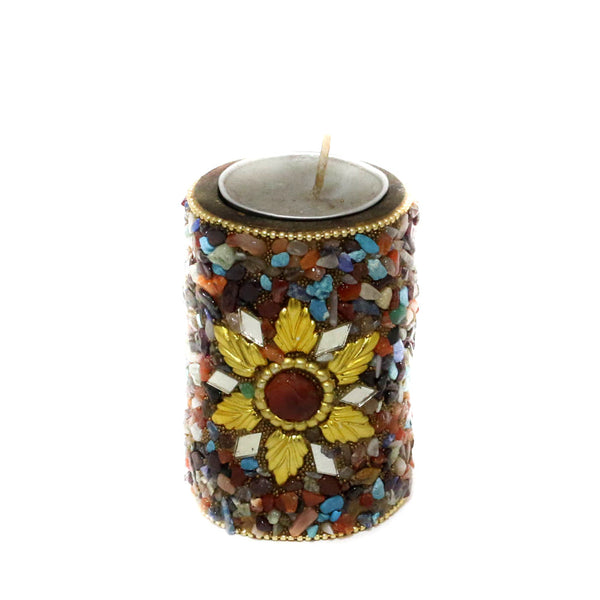 Colorfully Mottled T-Light Candle stand Holder