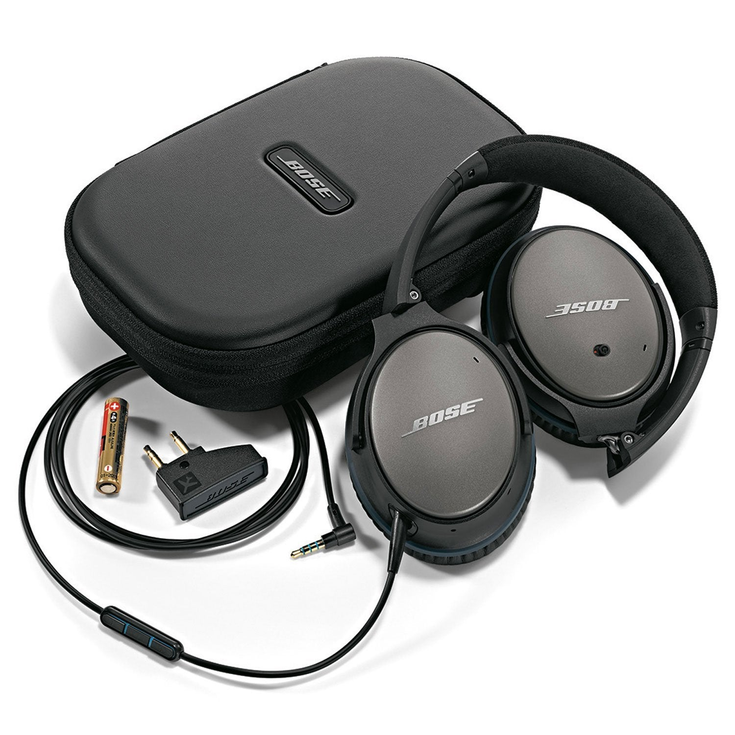 f05a03f0c5e Bose QuietComfort 25 Acoustic Noise Cancelling Headphones for Apple devices  - Black (wired, 3.5mm)