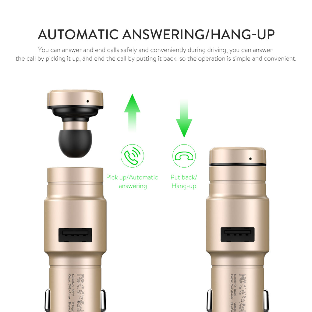 2 in 1 Bluetooth Earpiece & Car Charger