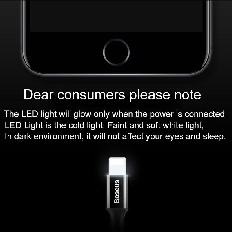 LED Ligthning Fast Charging For iPhone 7 6 Plus iPhone 5