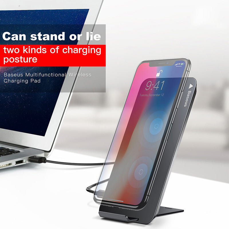 Qi Wireless Fast Charging Dock For iPhone X Samsung Note 8 S8 Plus S7 S6  Edge