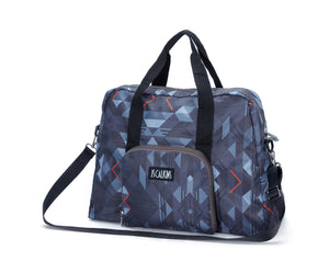 Lightweigh Geo Printed Packable Travel Duffle Bag
