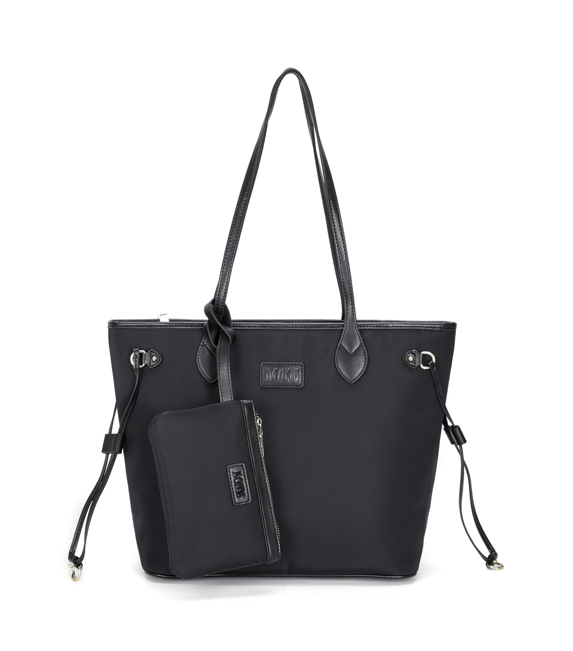 Nylon with Genuine Leather Tote Bag