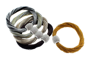 "Multi-Strands Viscose Rayon with Stainless Steel Magnetic Clasp Bracelet, 19cm (7.5"")"