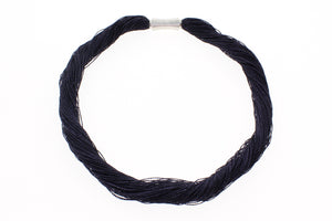 "Multi-Layers of Viscose Rayon with Magnetic Stainless Steel Clasp Necklace, 45cm (17.72"")"